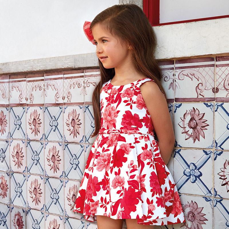 5472b5a6954 Φόρεμα πιέτες σταμπωτό λουλούδια mini-Mayoral