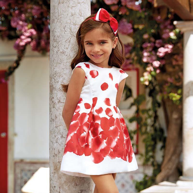 7464447b3ec Φόρεμα σταμπωτό πέταλα-Mayoral